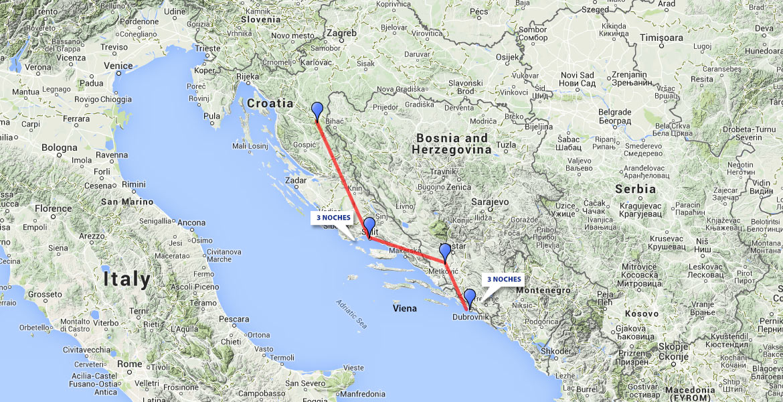 mapa croacia montenegro Croacia, Montenegro y Bosnia.En este viaje se visitan varios  mapa croacia montenegro